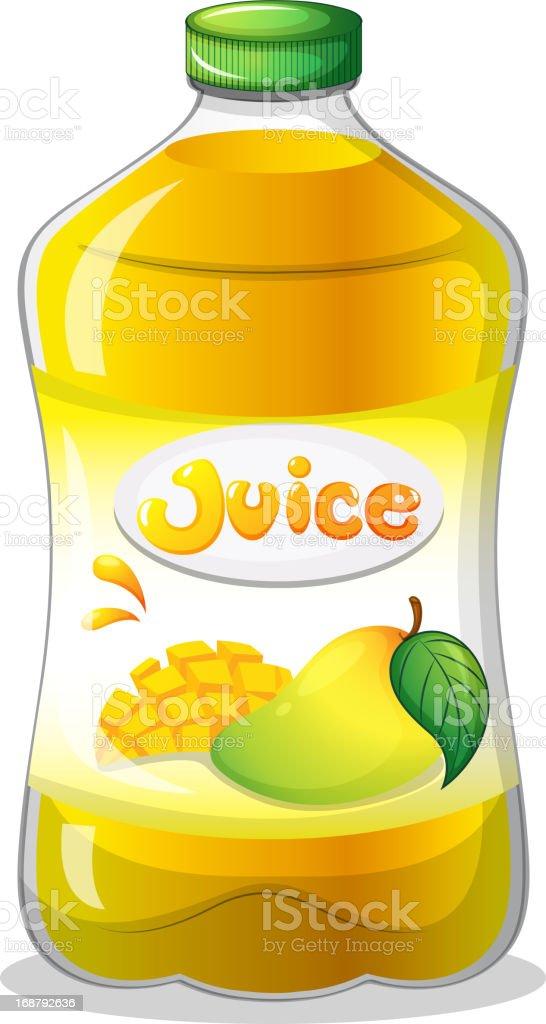 bottle of juice royalty-free stock vector art