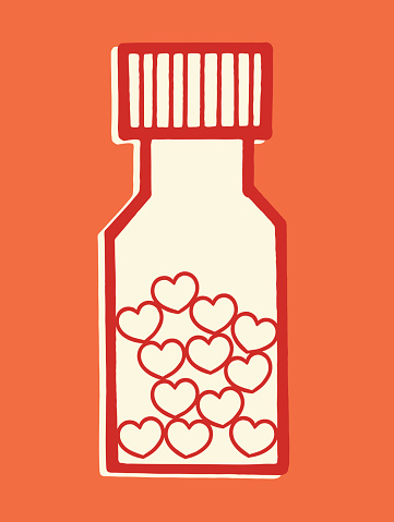 Bottle Of Love Pills Stock Illustration - Download Image Now