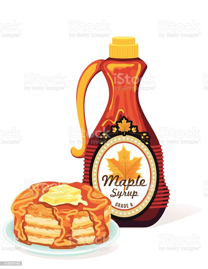royalty free maple syrup bottle clip art vector images rh istockphoto com maple syrup clip art free Maple Syrup Logo