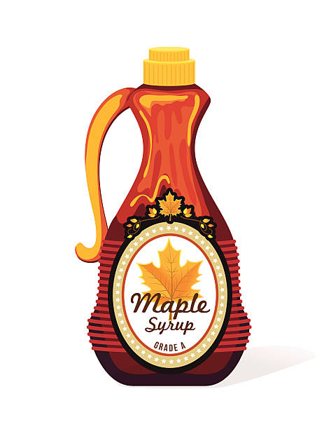 Bottle Of Maple Syrup Bottle Of Maple Syrup maple syrup stock illustrations