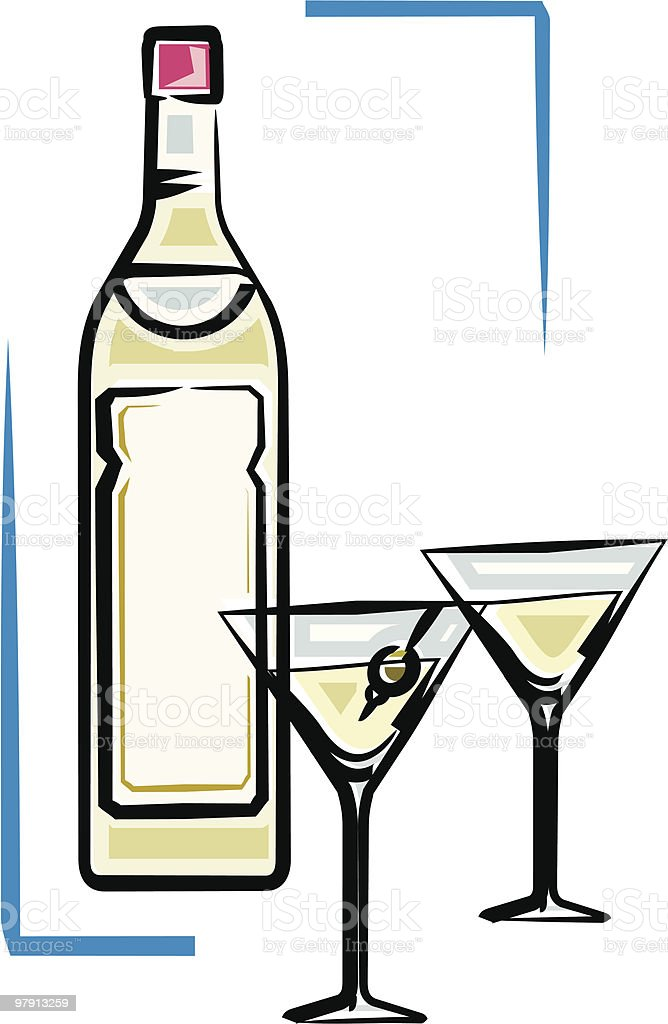 Bottle of martini vector illustration royalty-free bottle of martini vector illustration stock vector art & more images of alcohol