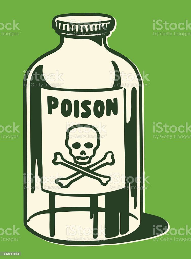 Bottle of Poison vector art illustration