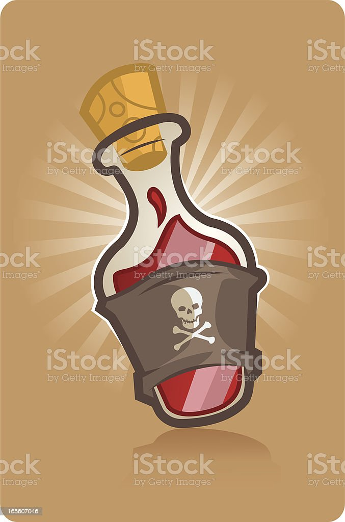 Bottle of rum royalty-free stock vector art
