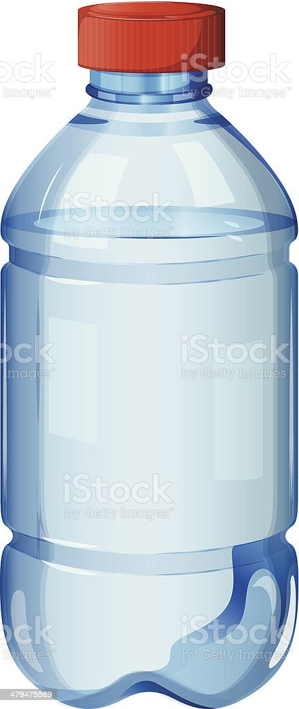 Bottle of safe drinking water royalty-free stock vector art