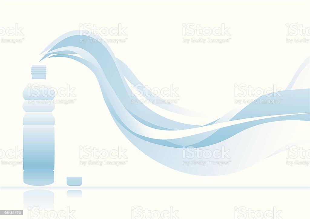 Bottle of water royalty-free bottle of water stock vector art & more images of abstract