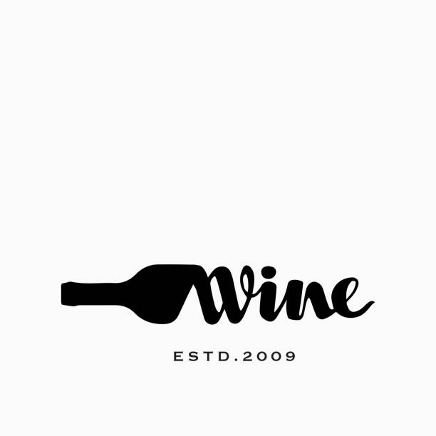 Bottle of Wine and Corkscrew Hand drawn Vector Icon Concept for Wine Shop Bottle of Wine and Corkscrew Hand drawn Vector Icon Concept for Wine Shop wine stock illustrations
