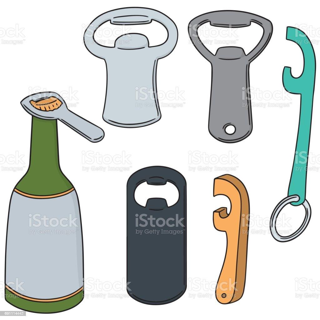 bottle opener vector art illustration