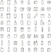 Bottle, packaging collection - vector