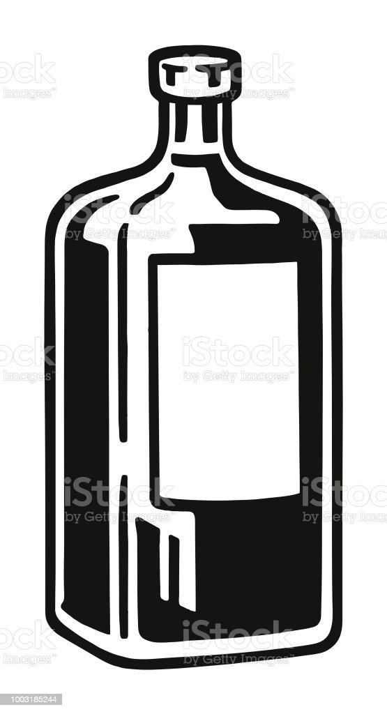Bottle vector art illustration