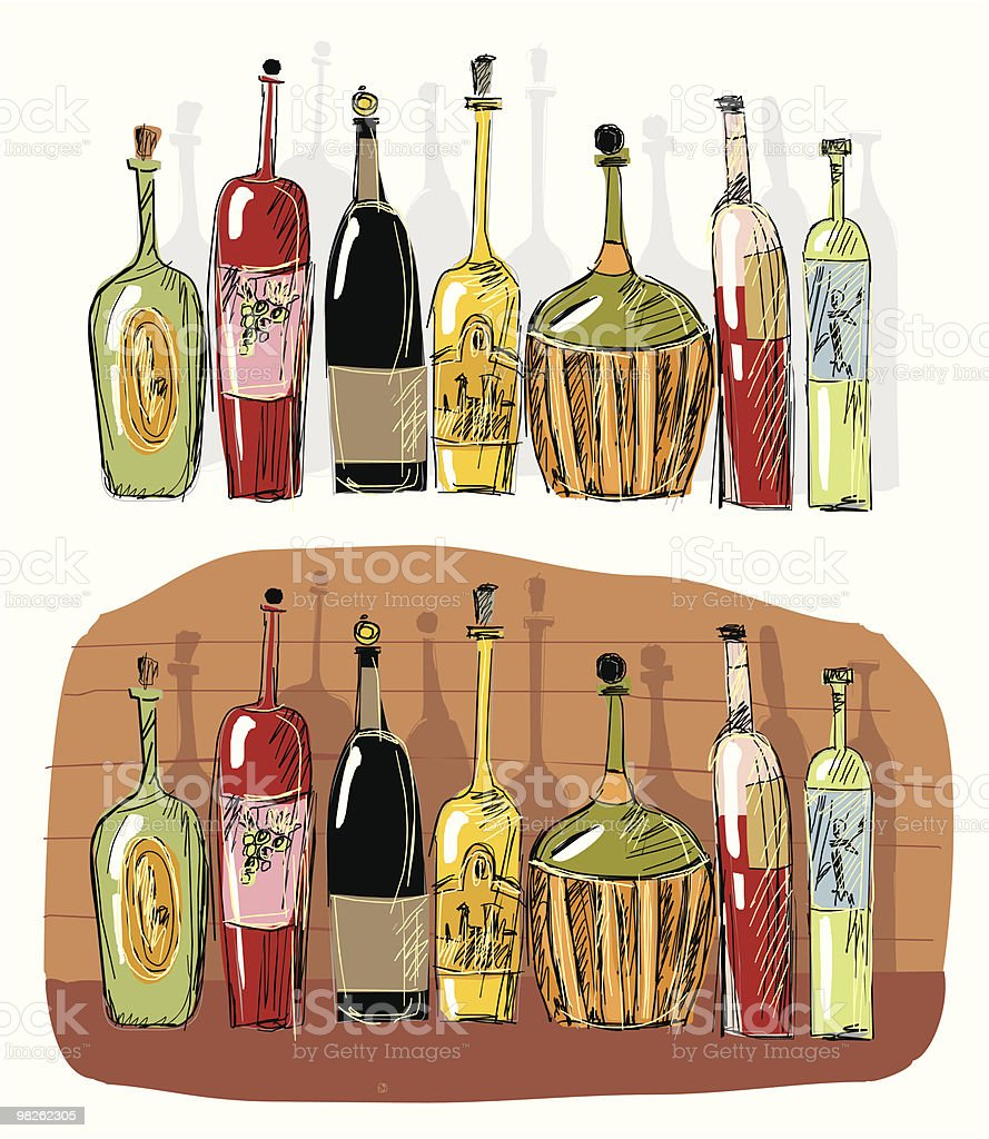 bottle royalty-free bottle stock vector art & more images of alcohol