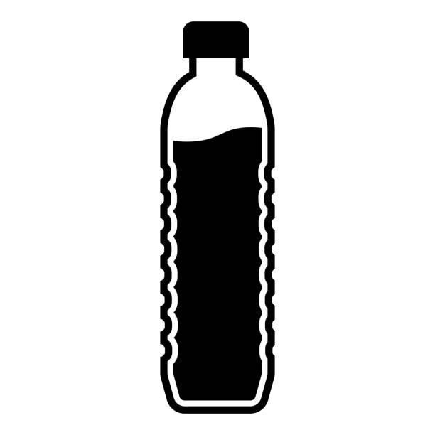 ボトルウォーターアイコン - ペットボトル点のイラスト素材/クリップアート素材/マンガ素材/アイコン素材