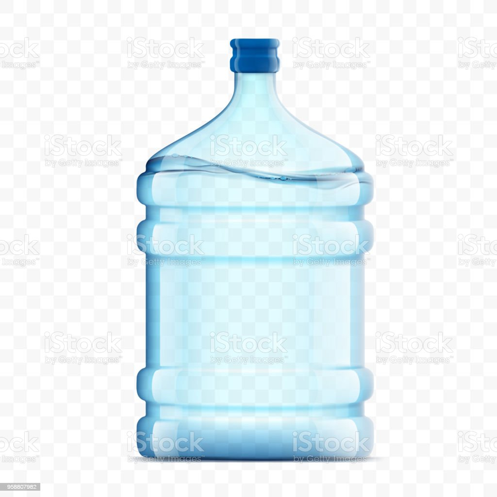 Bottle with clean, fresh water on a transparent background vector art illustration