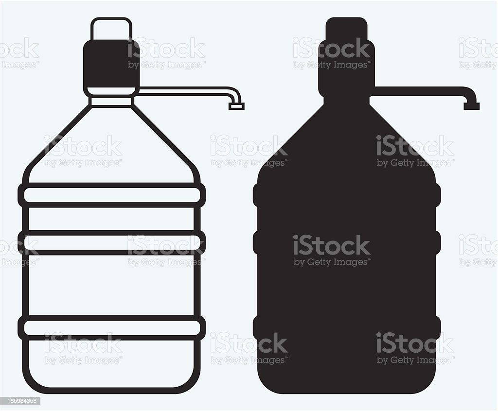 Bottle with clean water royalty-free stock vector art