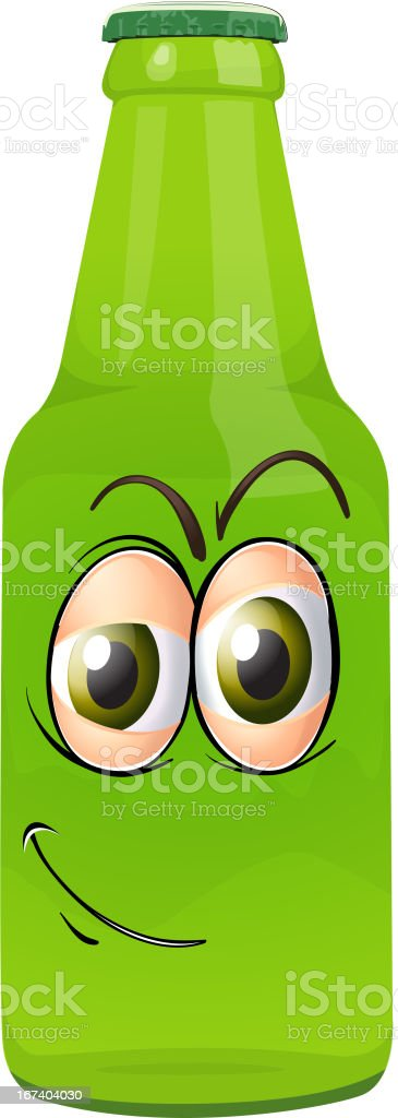 Bottle with face royalty-free bottle with face stock vector art & more images of bottle