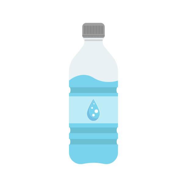 illustrations, cliparts, dessins animés et icônes de bouteille avec de l'eau - bouteille d'eau