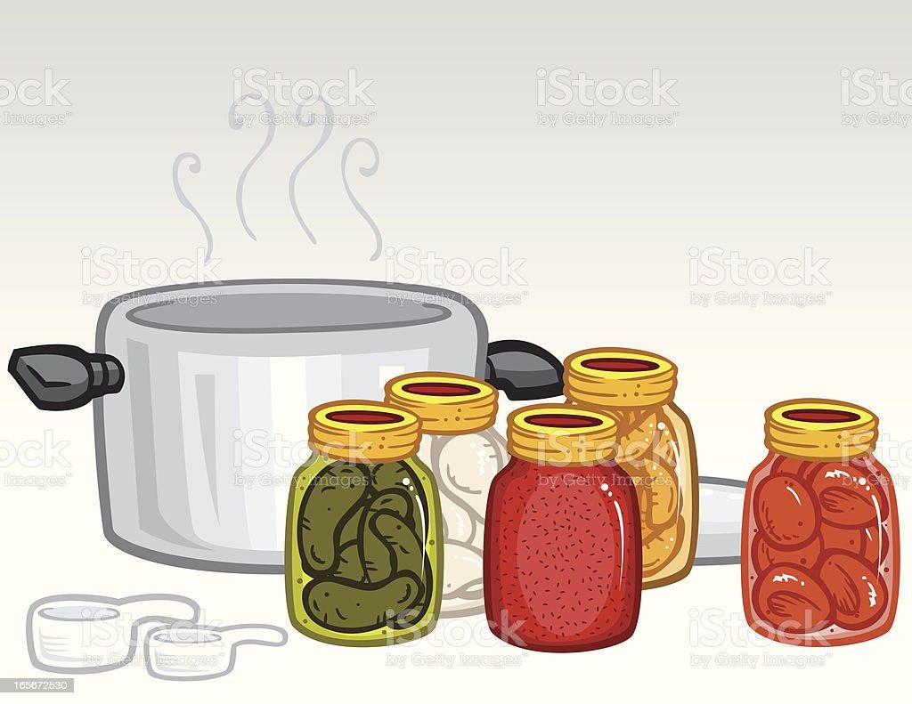 Bottled Foods royalty-free stock vector art