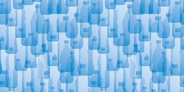 Bottled Water Plastic Bottles Waste Recycling Environmental Hazard Background