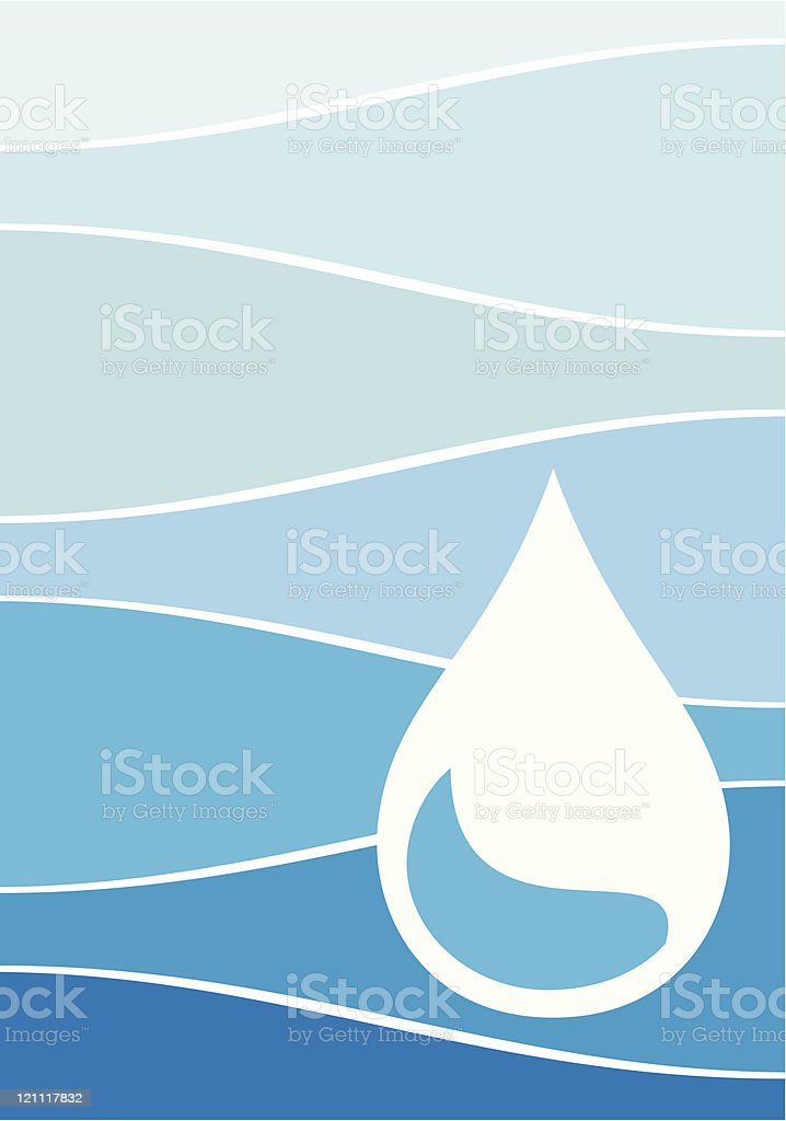 Bottled Water vector art illustration
