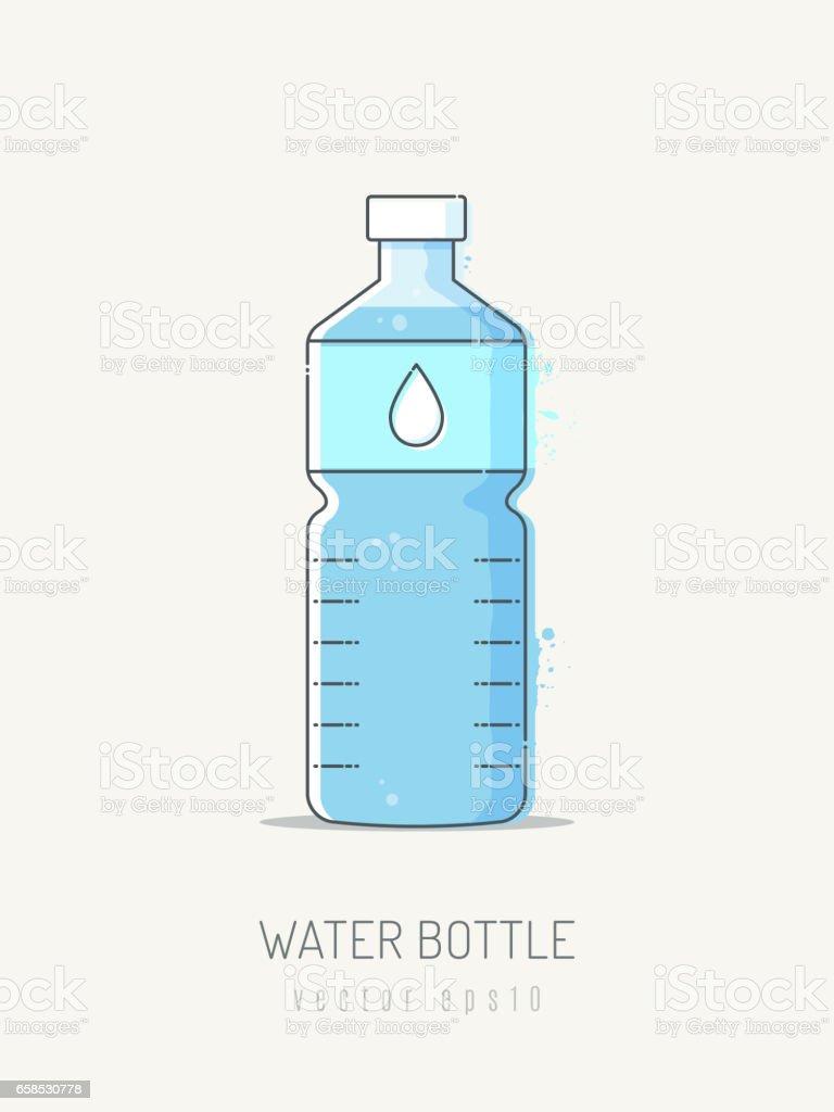 Bottled Water vector art illustration