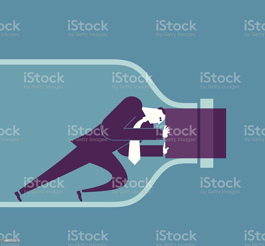 Bottleneck vector art illustration