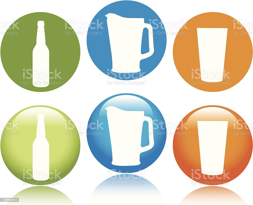 Bottle.Pitcher.Pint royalty-free bottlepitcherpint stock vector art & more images of alcohol