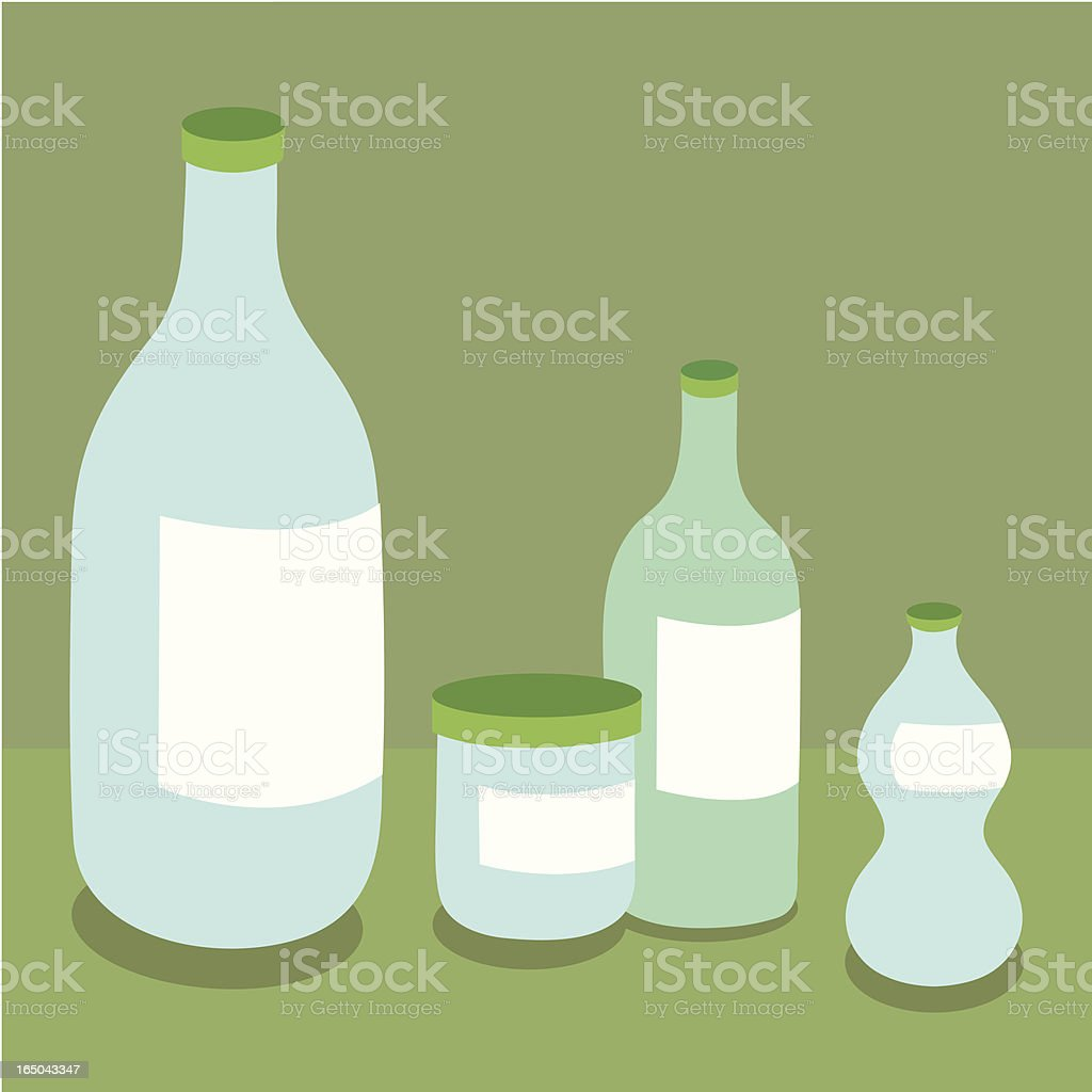 Bottles and Jars royalty-free stock vector art