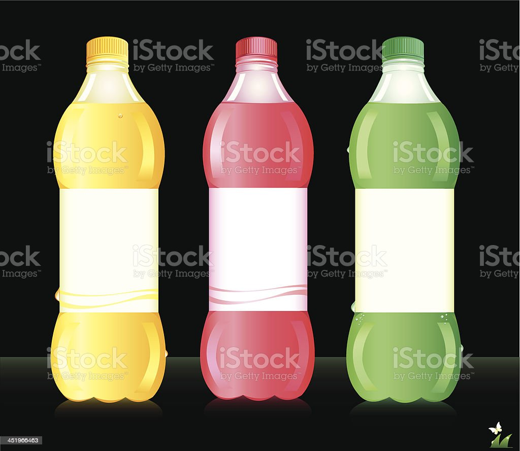 Bottles for juice. royalty-free stock vector art