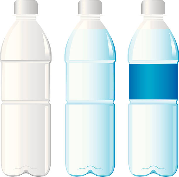 bottles of water Vector bottles of water Vector volume fluid capacity stock illustrations