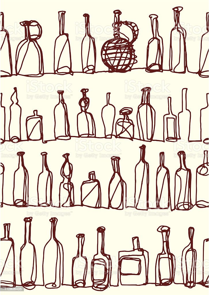 Bottles pattern royalty-free bottles pattern stock vector art & more images of alcohol