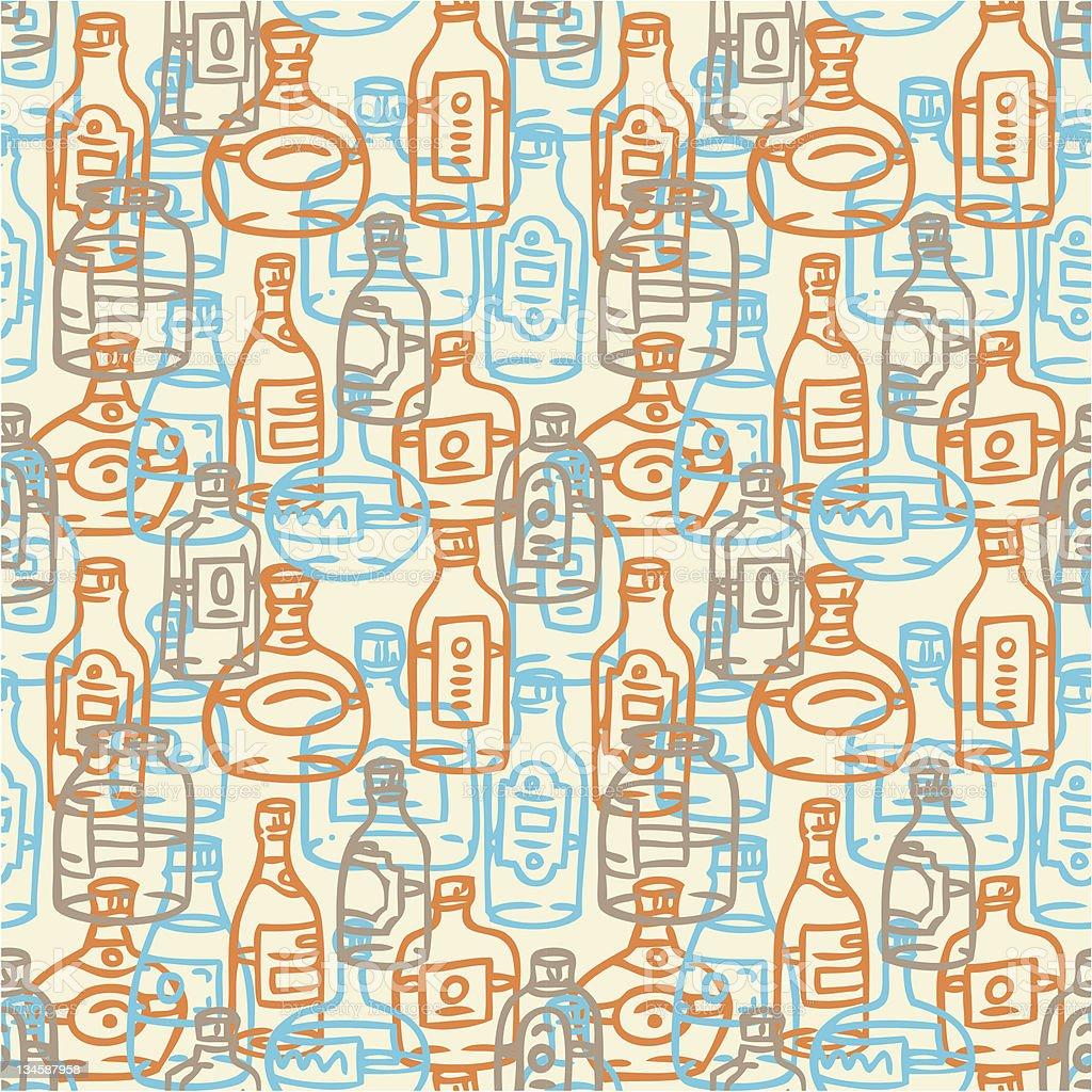 bottles pattern royalty-free stock vector art