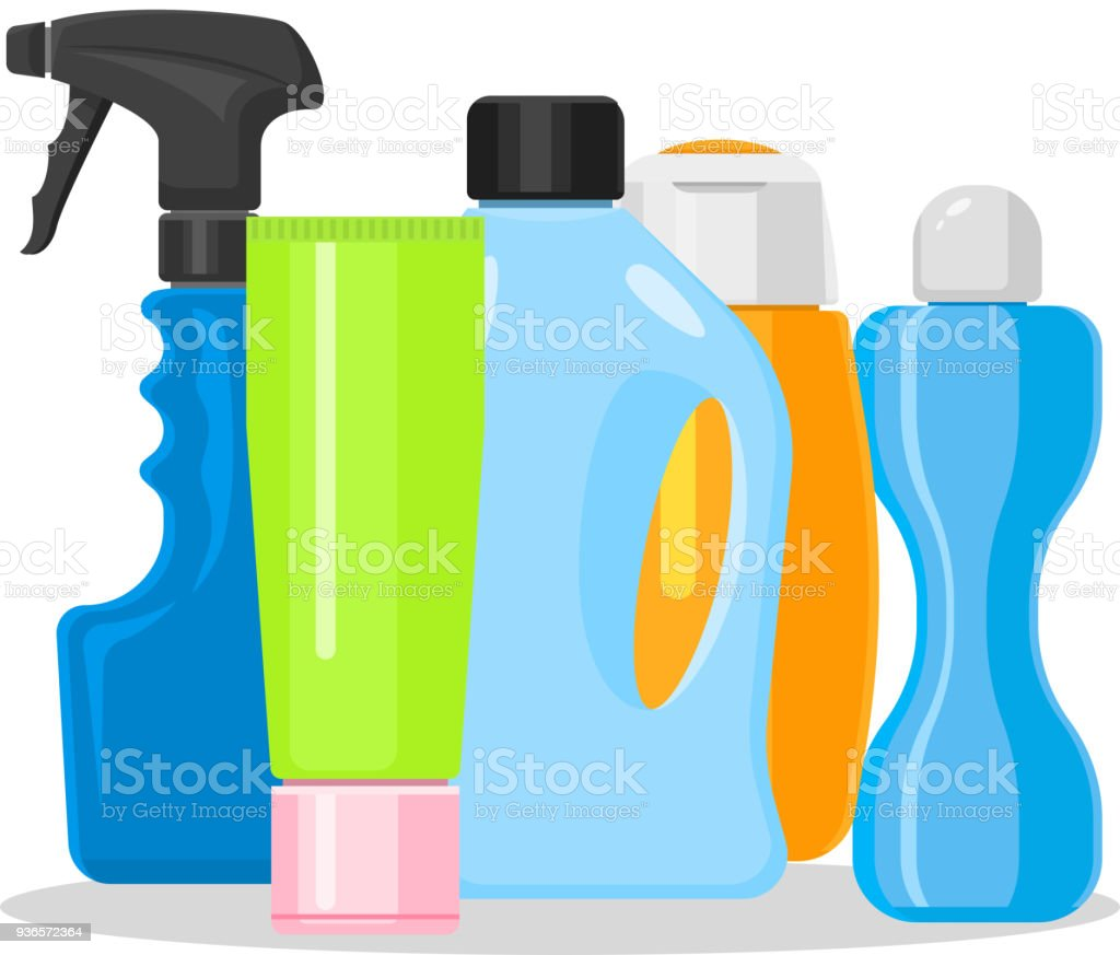 Bottles Vector Household Chemicals Supplies And Cleaning Housework ...