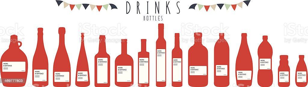 Bottles (Drinks) royalty-free stock vector art