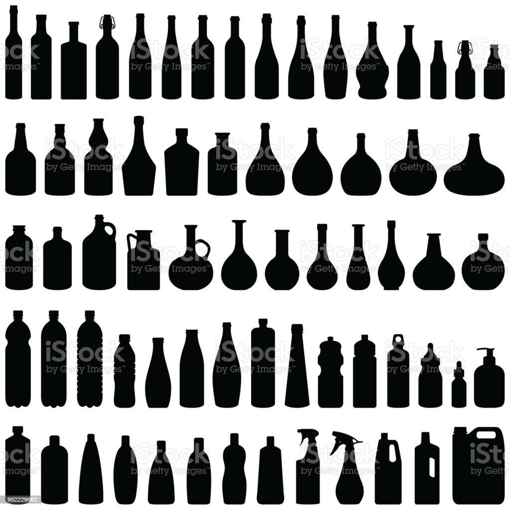 Flaschen – Vektorgrafik