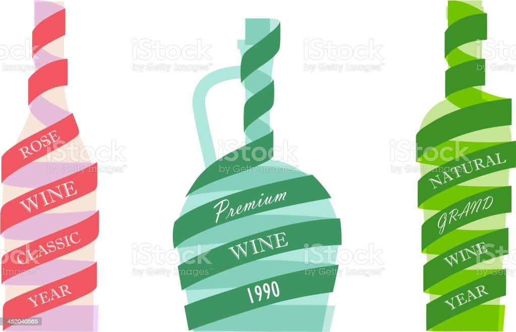 Bottles wine icons royalty-free stock vector art