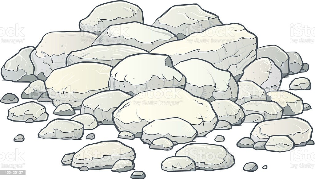 Boulders vector art illustration