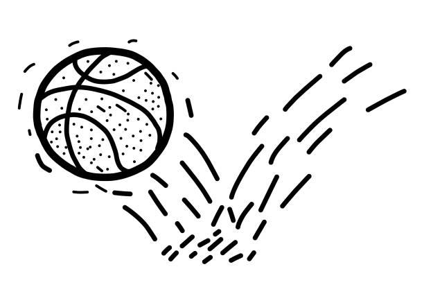 bouncing basketball vector art illustration