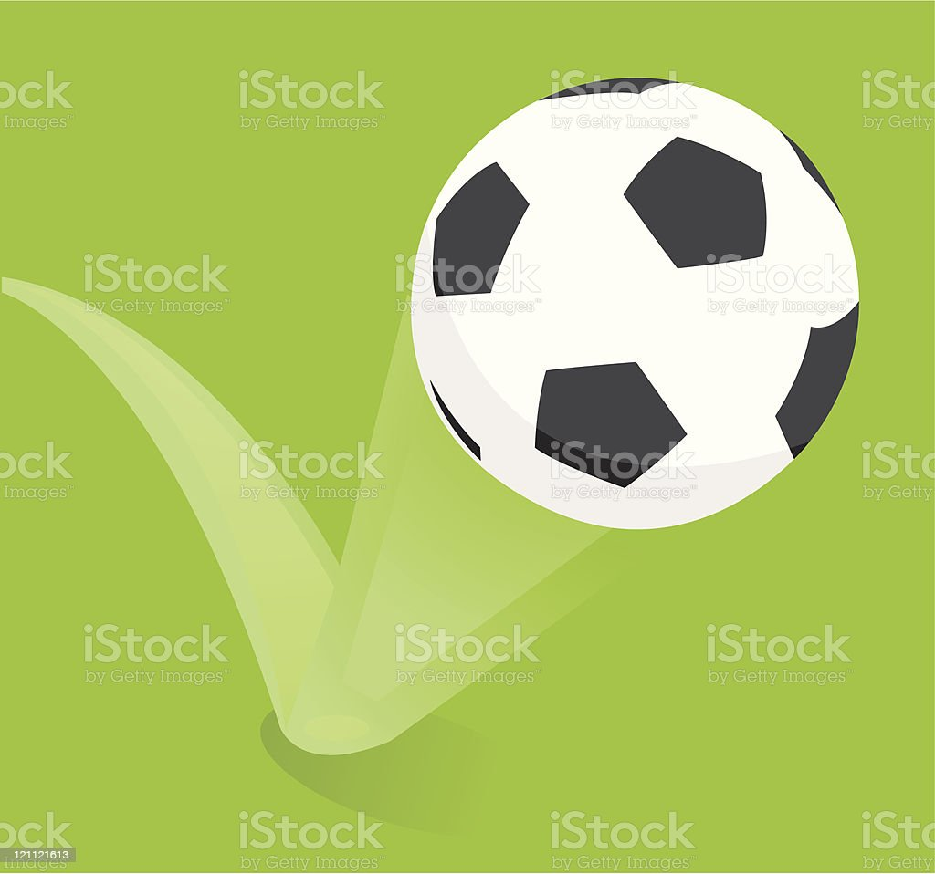 Bouncing soccer ball / Football royalty-free stock vector art