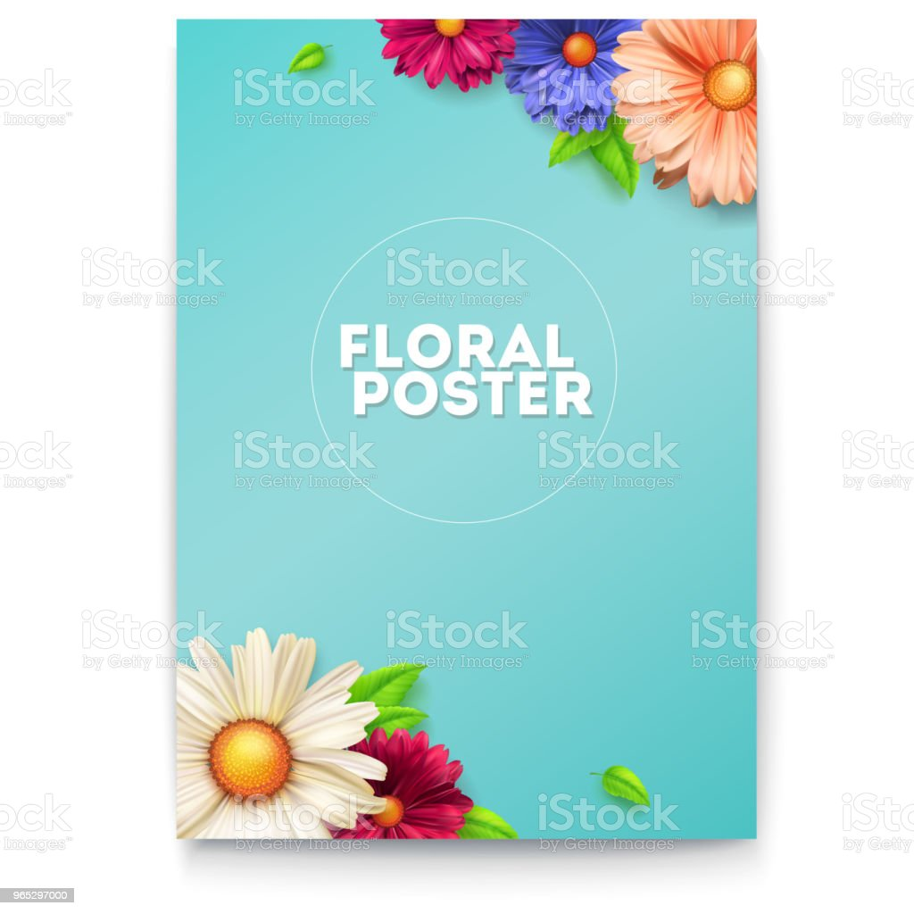 Bouquet Of Buds Flower And Leafs On Poster Concept Of Invitation For Summer Holiday Events Congratulation For Spring Birthday Weddings Anniversary Vintage Pattern From Flowers 3d Illustration - Stockowe grafiki wektorowe i więcej obrazów Baner