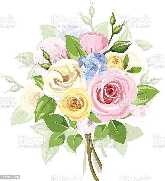 Bouquet of colorful roses lisianthus and lilac flowers vector vector id479278330?b=1&k=6&m=479278330&s=612x612&h=amdakc51h6yed637tbdgjhayl6ojedn njgqdprtfey=