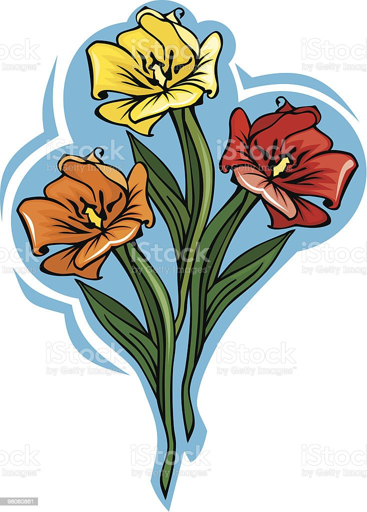 bouquet of different colored tulips royalty-free bouquet of different colored tulips stock vector art & more images of beauty