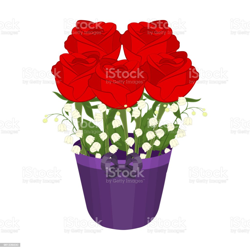A Bouquet Of Fresh Flowers Single Icon In Cartoon Style For Design