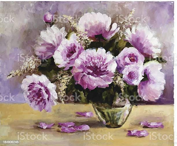 Bouquet of peonies in a glass vase vector id184906245?b=1&k=6&m=184906245&s=612x612&h=gyarmkxnprb6zilw0tdja22 flgg5izezworcmomnfg=