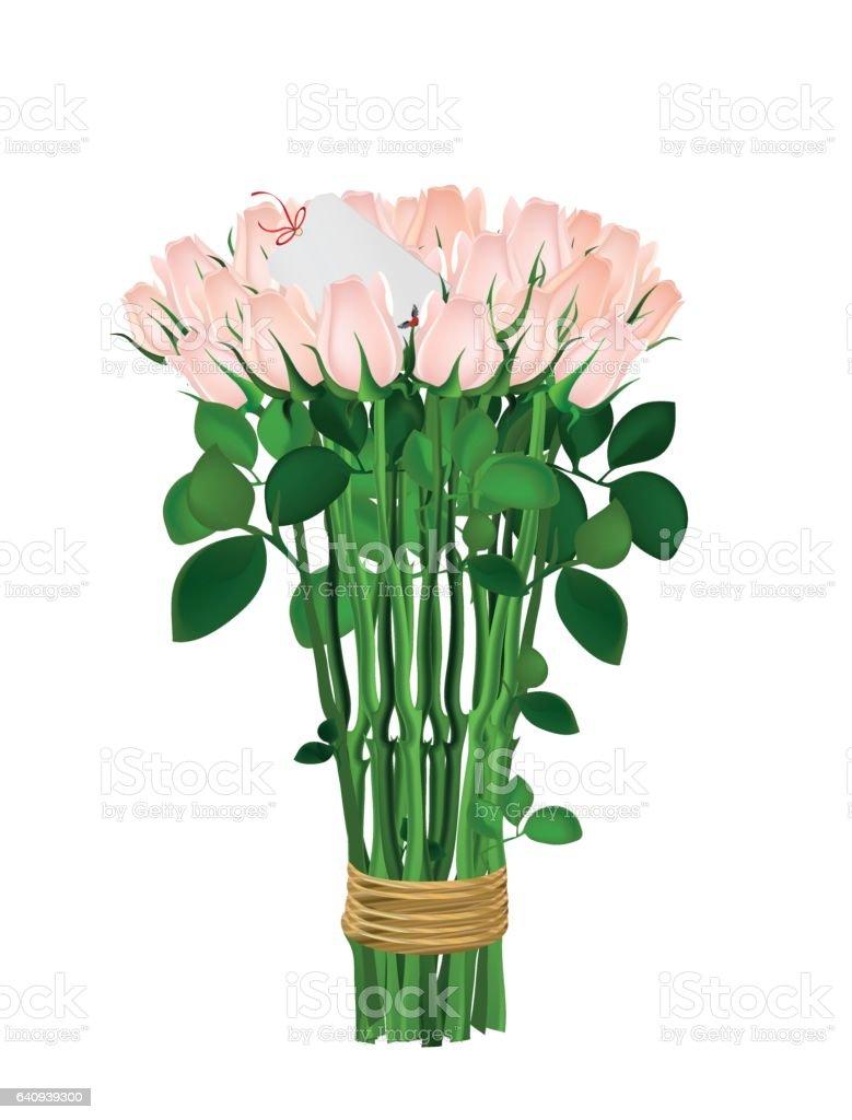 Bouquet Von Rosa Blüten Rosen Mit Einem Seil Gefesselt Innere Leere ...