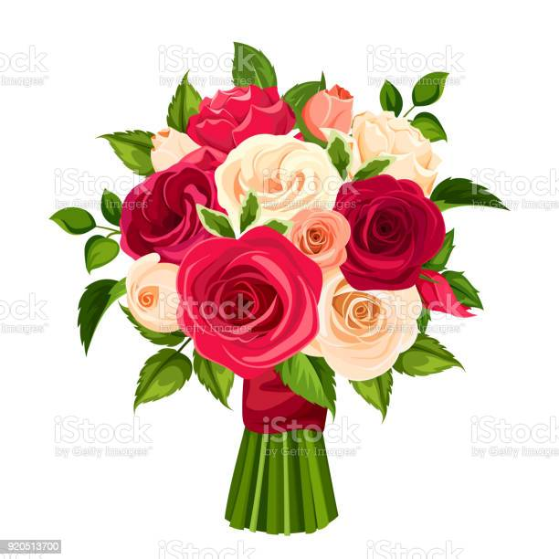 Bouquet of red orange and white roses vector illustration vector id920513700?b=1&k=6&m=920513700&s=612x612&h=ppyepbbo9mfwvsxoa4nn8ommcjtrxmywlq0wid3zc1e=