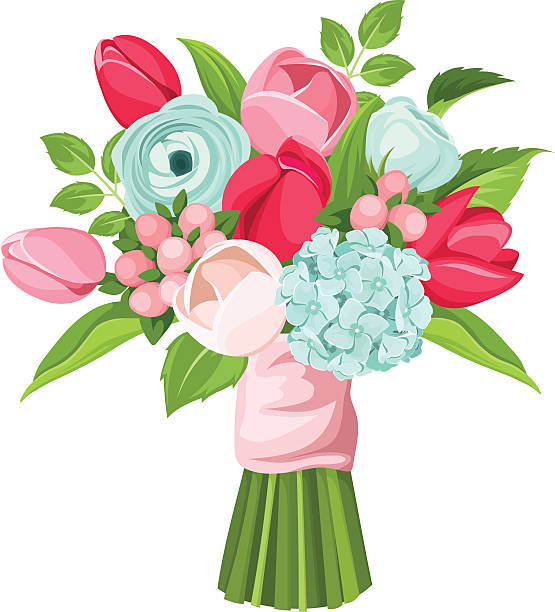Royalty Free Bouquet Of Flowers Clip Art, Vector Images ...
