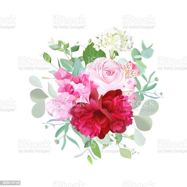 Bouquet of rose burgundy red peony pink and white hydrangea vector id859018146?b=1&k=6&m=859018146&s=612x612&h=xtccsemjl800zhneju01h3 tm9w1jny7 b7iiqoe90k=