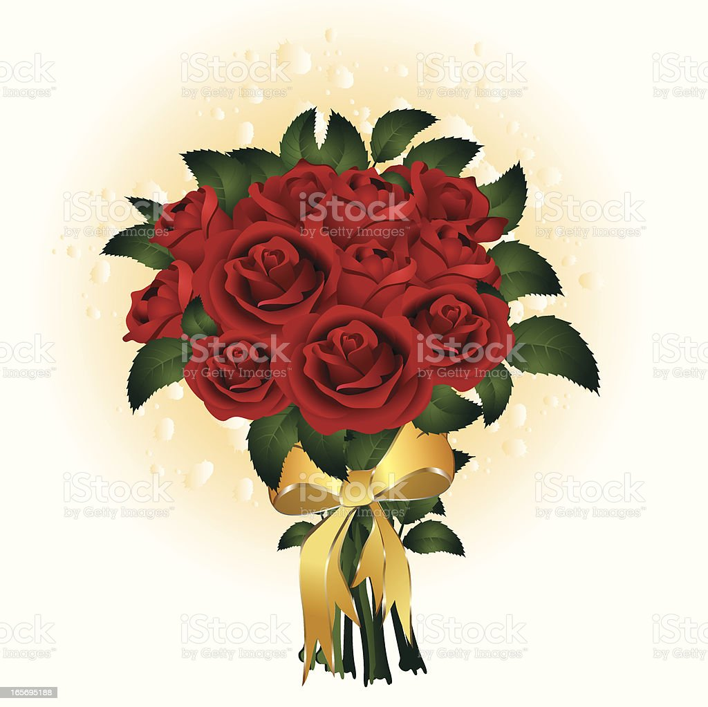 Bouquet of Roses royalty-free stock vector art