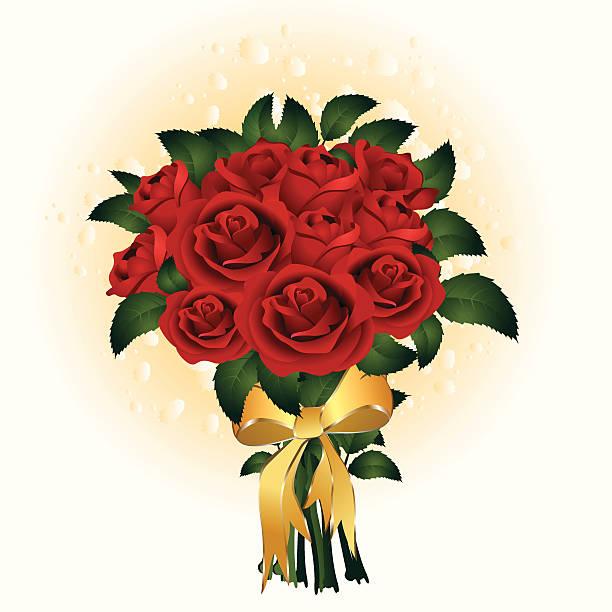 Strauß Rosen – Vektorgrafik