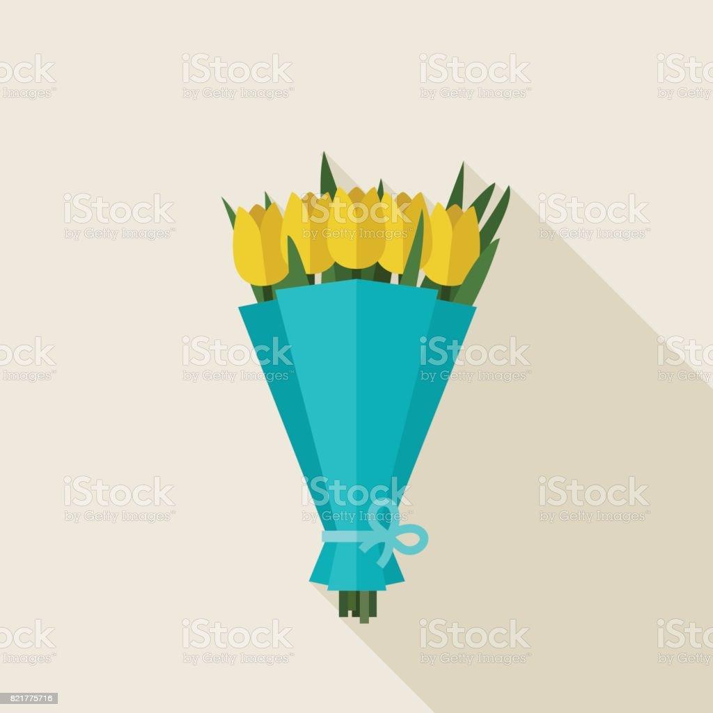 Ramo de tulipanes  - ilustración de arte vectorial