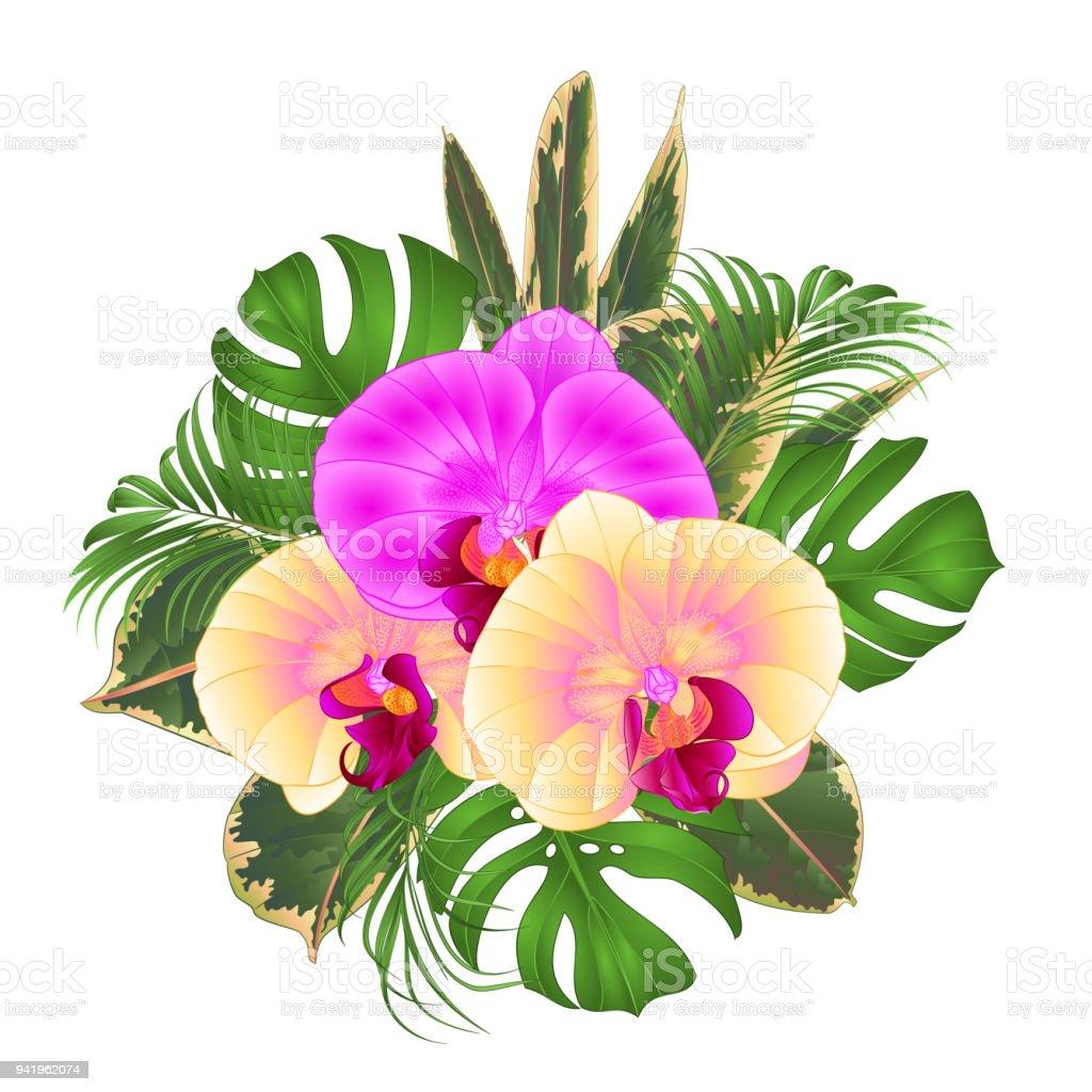 Ilustración De Bouquet Con Arreglo Floral De Flores